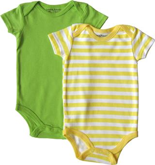 Luvable Friends - 2 Baby Rompers pack - JD-RP88-GY
